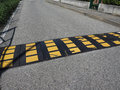 speed bump hump sign Royalty Free Stock Photo