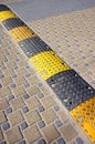 Speed bump on the road Royalty Free Stock Images
