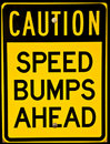 Speed bump sign Royalty Free Stock Image