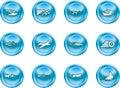 Speed Icon Set Series Design E Royalty Free Stock Photo