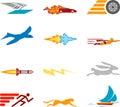 Speed Icon Set Series Design Elements Royalty Free Stock Photo