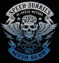 Speed Junkies Motorcycle Vintage Design