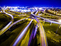 Speed of Light Highways loops interchange Austin Traffic Transportation Highway Royalty Free Stock Photo