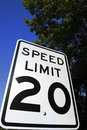 Speed Limit 20 Sign 2 Royalty Free Stock Photography