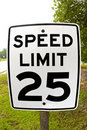 Speed Limit 25 Stock Image