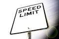 Speed limit a blank sign Stock Images