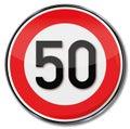 Speed limit 50 kmh