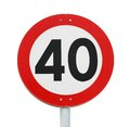 Speed limit 40 Royalty Free Stock Photo