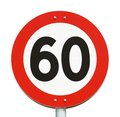 Speed limit 60 Royalty Free Stock Photo