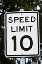 Speed Limit Sign - 10 Royalty Free Stock Photo