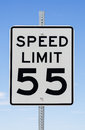 Speed limit sign with blue sky background Royalty Free Stock Photos