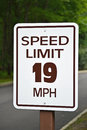 Speed limit a sign reading miles per hour Royalty Free Stock Photography