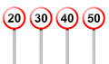 Speed limit signs. Royalty Free Stock Photos