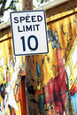 Speed Limit Ten Royalty Free Stock Photo