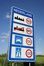 Speed limits in the netherlands sign of at dutch border Royalty Free Stock Images