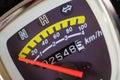 Speed meter kilometer. Royalty Free Stock Photo