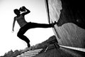 Speed In Parkour Royalty Free Stock Photography