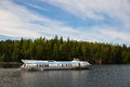 Speed passenger ship near the island of Valaam in Russia Royalty Free Stock Photo
