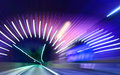 Speed photo of a highway tunnel motion blure Royalty Free Stock Image