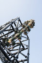 Speed roller a rollercoaster for people who likes strong emotions Stock Photo