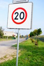 Speed sign twenty Stock Image