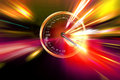 Speed on the speedometer Royalty Free Stock Images