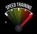 Speed training concept speedometer Royalty Free Stock Photography