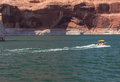 Speedboat on Lake Powell Royalty Free Stock Photo