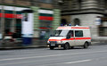 Speeding ambulance Royalty Free Stock Photo