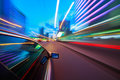 Speeding Car Motion Blur Royalty Free Stock Photo