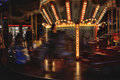 Speeding carousel in the night Royalty Free Stock Photo