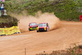 Speeding mini coopers racing car in diyathalawa fox hill super cross event in srilanka april Stock Images