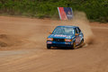 Speeding racing car in srilanka diyathalawa fox hill super cross event april Royalty Free Stock Photography