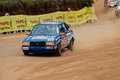 Speeding racing car in srilanka diyathalawa fox hill super cross event april Royalty Free Stock Photo
