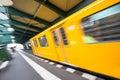 Speeding tram train berlin germany Royalty Free Stock Photo
