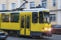 A speeding tram Royalty Free Stock Photo