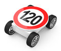 The speedlimit Royalty Free Stock Image