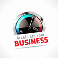 Speedometer - Accelerate Your Business Royalty Free Stock Photo