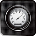 Speedometer black checkered web icon Stock Photography