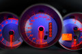 Speedometer blue Stock Images