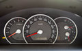 Speedometer  in the car Royalty Free Stock Photo
