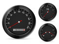 Speedometer car dashboard elements on a white background Royalty Free Stock Photography