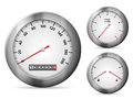 Speedometer car dashboard elements on a white background Royalty Free Stock Images
