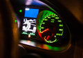 speedometer on dashboard of car Royalty Free Stock Photo