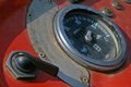 SPEEDOMETER DIAL ON OLD TRACTOR Royalty Free Stock Photo