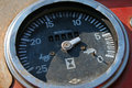 SPEEDOMETER DIAL ON OLD VEHICLE Royalty Free Stock Photo