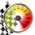 Speedometer with Flag Stock Photos