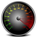 Speedometer illustration of a gauge Royalty Free Stock Images