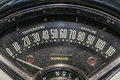 Speedometer odometer old car transportation speed race vintage Stock Photography