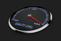 Speedometer - quality level Royalty Free Stock Photo